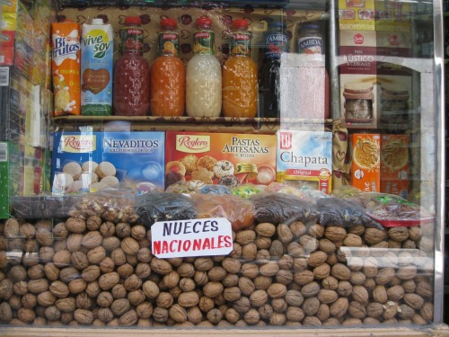 Walnuts in shop display, Madrid