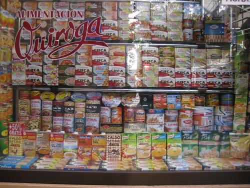Canned food, shop display, Madrid