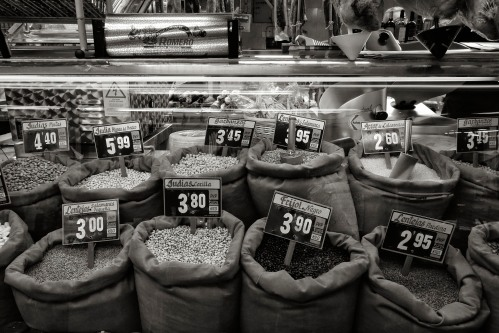 Beans and lentils, Market, Madrid