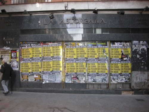 Protest posters, Huertas, Madrid