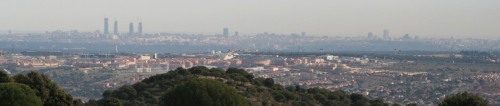 Distant view of Madrid